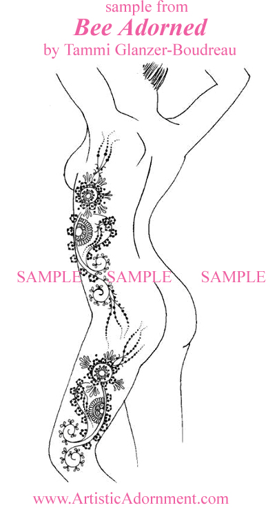free full body henna design pattern