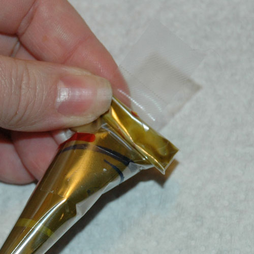 how to tape henna cone shut seal