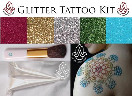 Free Hand Glitter Tattoo Kits – New at ArtisticAdornment.com ...