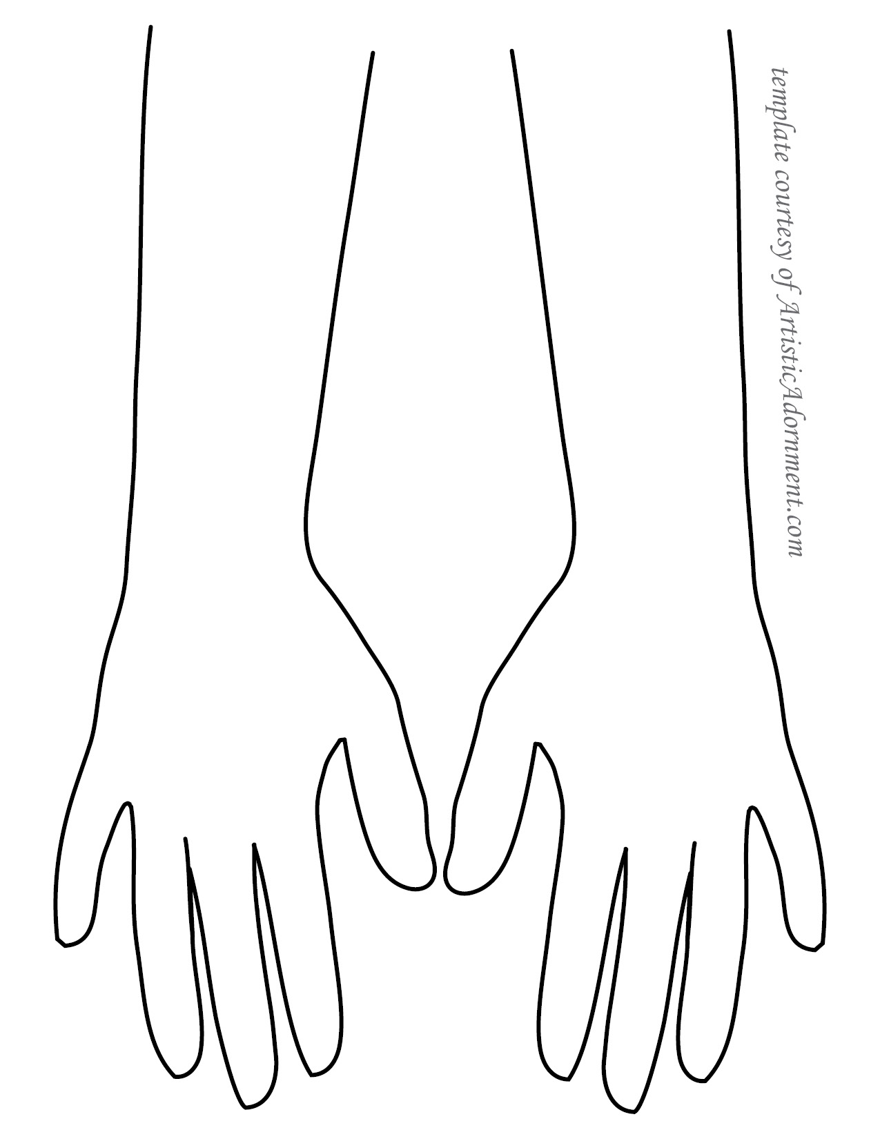 Free Henna Template - Backs of Hands - ArtisticAdornment.com