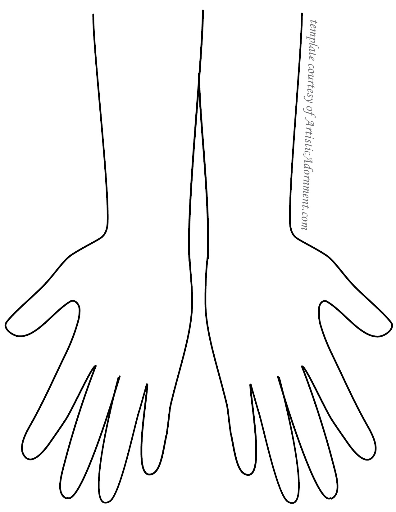 Henna Hand Template from ArtisticAdornment.com