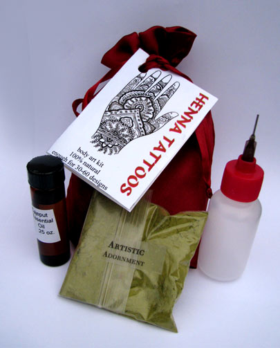 The best available Henna Kit from ArtisticAdornment.com!